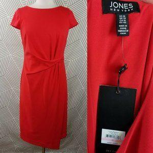 Jones New York Dresses - New Jones New York Size 10 Dress Faux Wrap Tuck
